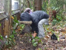 tree planting wildlife forest school Knights Hill Wood Lambeth London -7