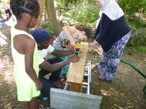 Free insect hotel making forest school West Norwood Lambeth London-19